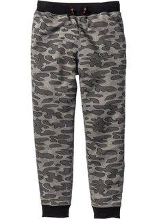 Функциональные спортивные брюки (серый меланж с рисунком) Bonprix