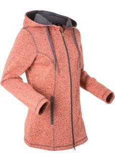 Вязаная флисовая куртка (лососевый меланж) Bonprix