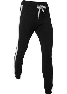 Спортивные брюки (черный) Bonprix