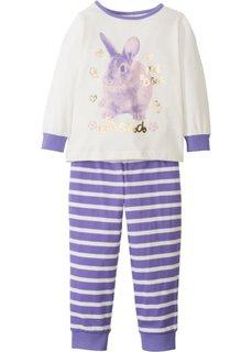 Пижама (2 изд.) (цвет белой шерсти/нежно-лиловый) Bonprix