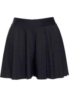 Быстросохнущая юбка-шорты с плавками (черный) Bonprix