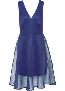 Платье в сеточку (темно-синий) Bonprix