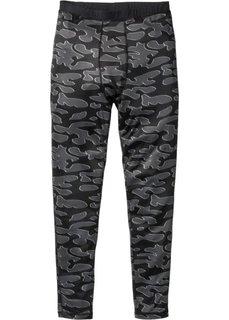 Функциональные спортивные брюки (черный с рисунком) Bonprix