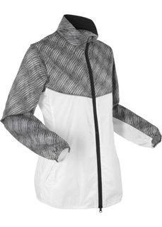 Спортивная куртка с длинным рукавом (белый с рисунком) Bonprix