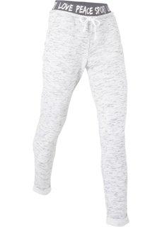 Легкие спортивные брюки (белый меланж) Bonprix