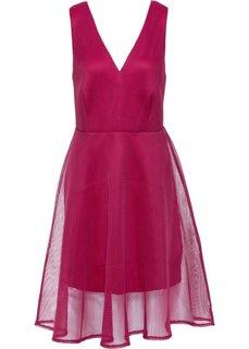 Платье в сеточку (ягодный) Bonprix