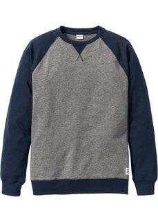 Свитшот Regular Fit с рукавом-реглан (серый меланж) Bonprix