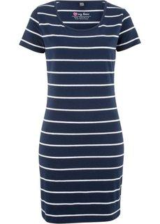 Платье стретч (темно-синий/белый в полоску) Bonprix