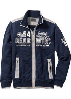 Трикотажная куртка Regular Fit (темно-синий) Bonprix