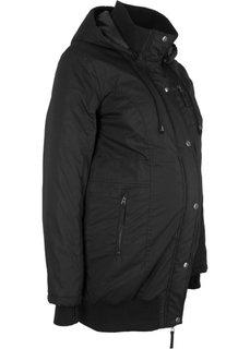 Для будущих мам: куртка с капюшоном (черный) Bonprix