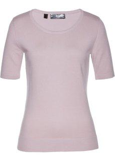 Пуловер с коротким рукавом (розовый) Bonprix