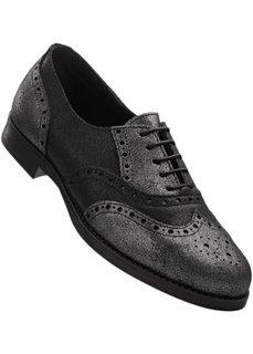Кожаные туфли (серебристо-серый) Bonprix