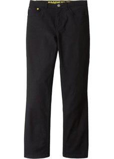 Твиловые брюки Slim Fit (черный) Bonprix