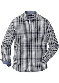 Клетчатая рубашка Regular Fit с длинным рукавом (черный/белый в клетку) Bonprix
