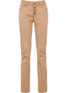Стрейтчевые брюки Loose Fit на пуговицах (верблюжий) Bonprix