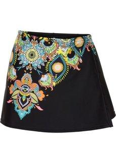 Пристегивающаяся юбка (черный с рисунком) Bonprix