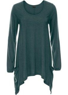 Удлиненная футболка (зеленый) Bonprix