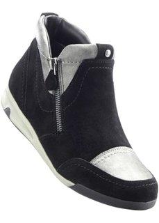 Удобные ботинки для досуга (черный/серебристый) Bonprix