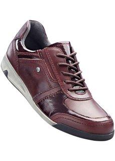 Удобные кожаные кроссовки (бордовый) Bonprix