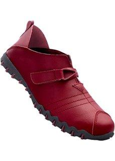 Легкие кожаные слиперы (бордовый/черный) Bonprix