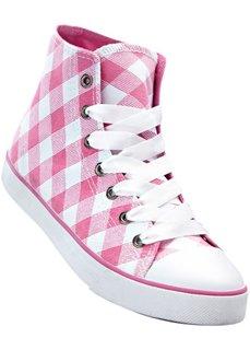 Высокие кеды (белый/ярко-розовый) Bonprix