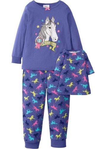 Пижама + ночная рубашка для куклы (3 изд.) (лилово-синий)