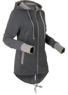 Трикотажная куртка с длинным рукавом (черный) Bonprix