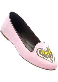 Балетки (розовый/серый) Bonprix