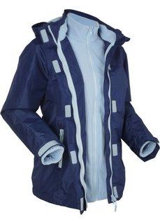 Функциональная куртка 3 в 1 с капюшоном (полуночная синь) Bonprix