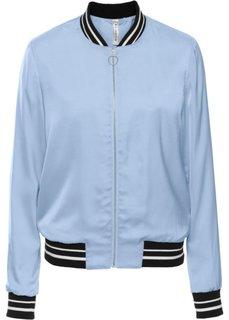 Куртка-бомбер из сатина (синий пастельный) Bonprix