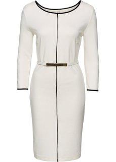 Платье (кремовый/черный) Bonprix