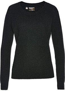 Пуловер (антрацитовый меланж) Bonprix