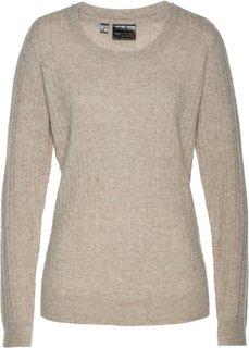 Пуловер (кремовый меланж) Bonprix
