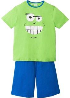 Пижама с шортами (2 изд.) (ярко-зеленый/лазурный) Bonprix