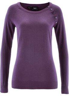 Пуловер (виноградный) Bonprix