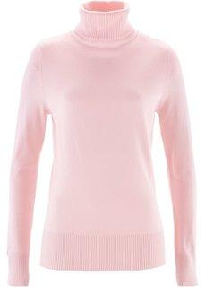 Водолазка (жемчужно-розовый) Bonprix