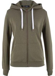 Трикотажная куртка (темно-оливковый) Bonprix