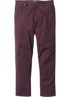 Стрейтчевые брюки Regular Fit, cредний рост (N) (бордовый) Bonprix