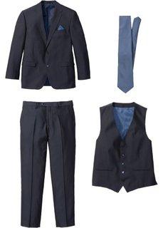 Костюм Regular Fit из 4-х изделий, cредний рост (N) (темно-синий/синий) Bonprix