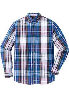 Клетчатая рубашка Regular Fit с длинным рукавом (синий/темно-лиловый в клетку) Bonprix