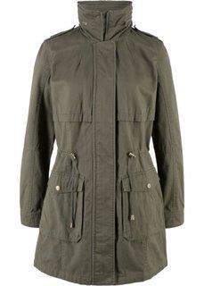Куртка-парка на трикотажной подкладке (темно-оливковый) Bonprix