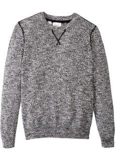 Пуловер меланжевой расцветки (черный/кремовый меланж) Bonprix