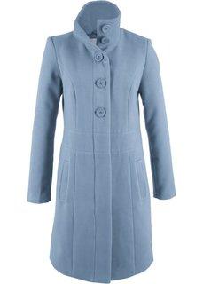 Короткое пальто на пуговицах (синий матовый) Bonprix