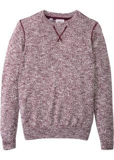 Пуловер меланжевой расцветки (кленово-красный/кремовый меланж) Bonprix