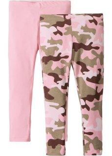 Легинсы (2 шт.) (камуфляж/розовая пудра с рисунком+розовая пудра) Bonprix