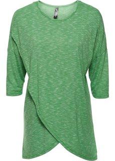 Асимметричная туника (зеленый меланж) Bonprix