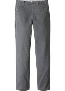 Брюки-чиносы Slim Fit (дымчато-серый) Bonprix