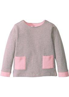 Свитшот (светло-серый меланж/розовая пудра) Bonprix