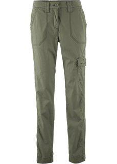 Стрейчевые брюки-карго (оливковый) Bonprix