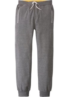 Трикотажные брюки с карманами на молнии (серый меланж) Bonprix